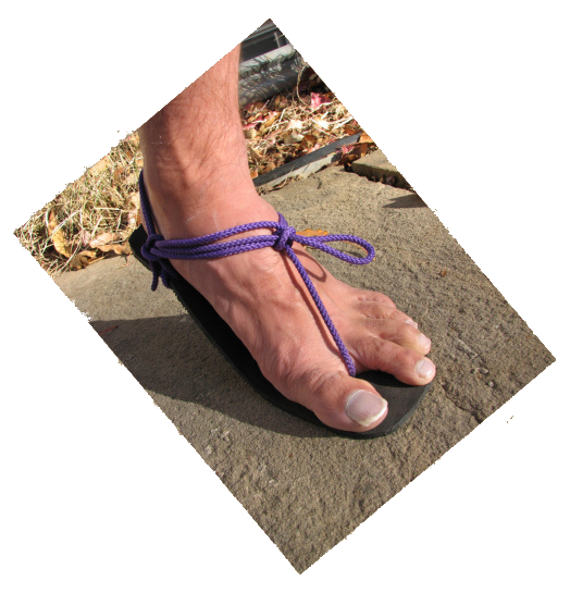 How to make barefoot running sandals - Tarahumara Huarache