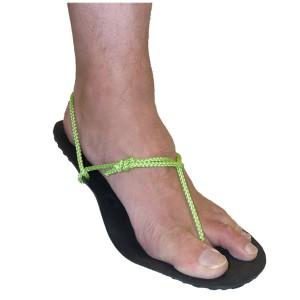 Ultra-minimal barefoot sandle tying style