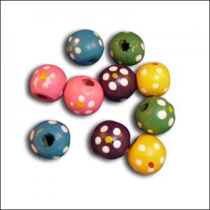 Wood Flower Beads