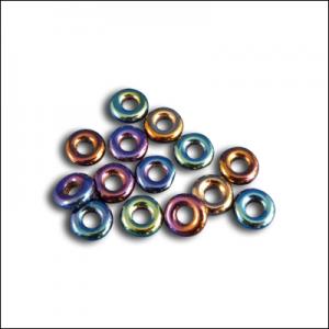 Iris Blue Sparkling Pressed Glass Beads
