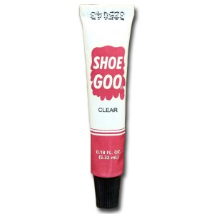 Shoe Goo for running sandals laces