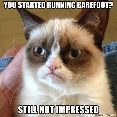 I don't like barefoot running