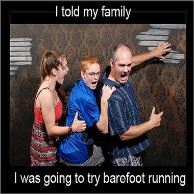 Try running in bare feet