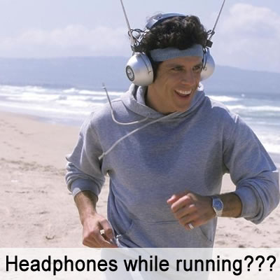 Run with headphones and music?