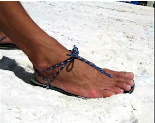 Raymond's Double-Thong Running Sandal Tying Method