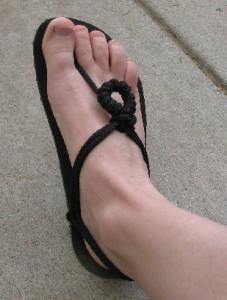 huarache barefoot sandle - Phoenix Flower