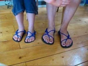 Erik's Barefoot Running Sandal Tying method