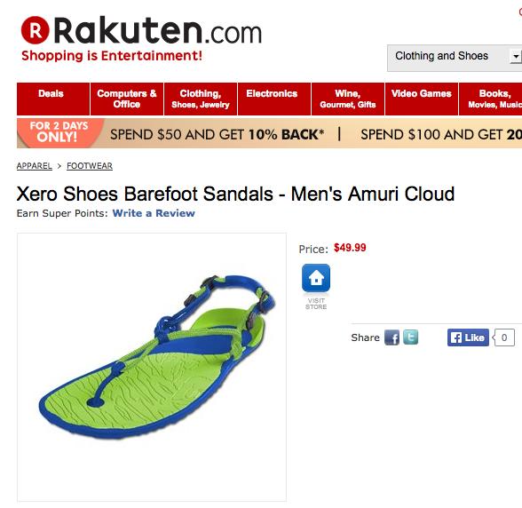 Xero Shoes Barefoot Sandals on Rakuten