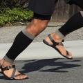 Nicholas Pang in his barefoot running sandals