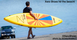 Stand Up Paddle Board with Xero Shoes