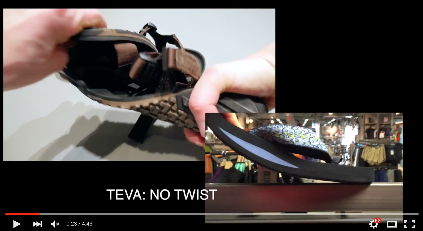 Teva Chaco and Keen Sandals don't twist - Xero Shoes do