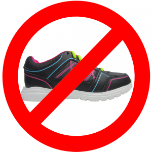 No Running Shoes Allowed