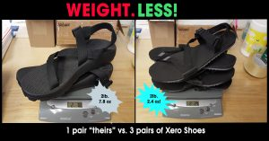 Comparing Xero Shoes to Chaco Teva Keen