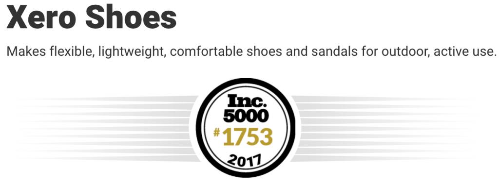 Xero Shoes Inc. 5000