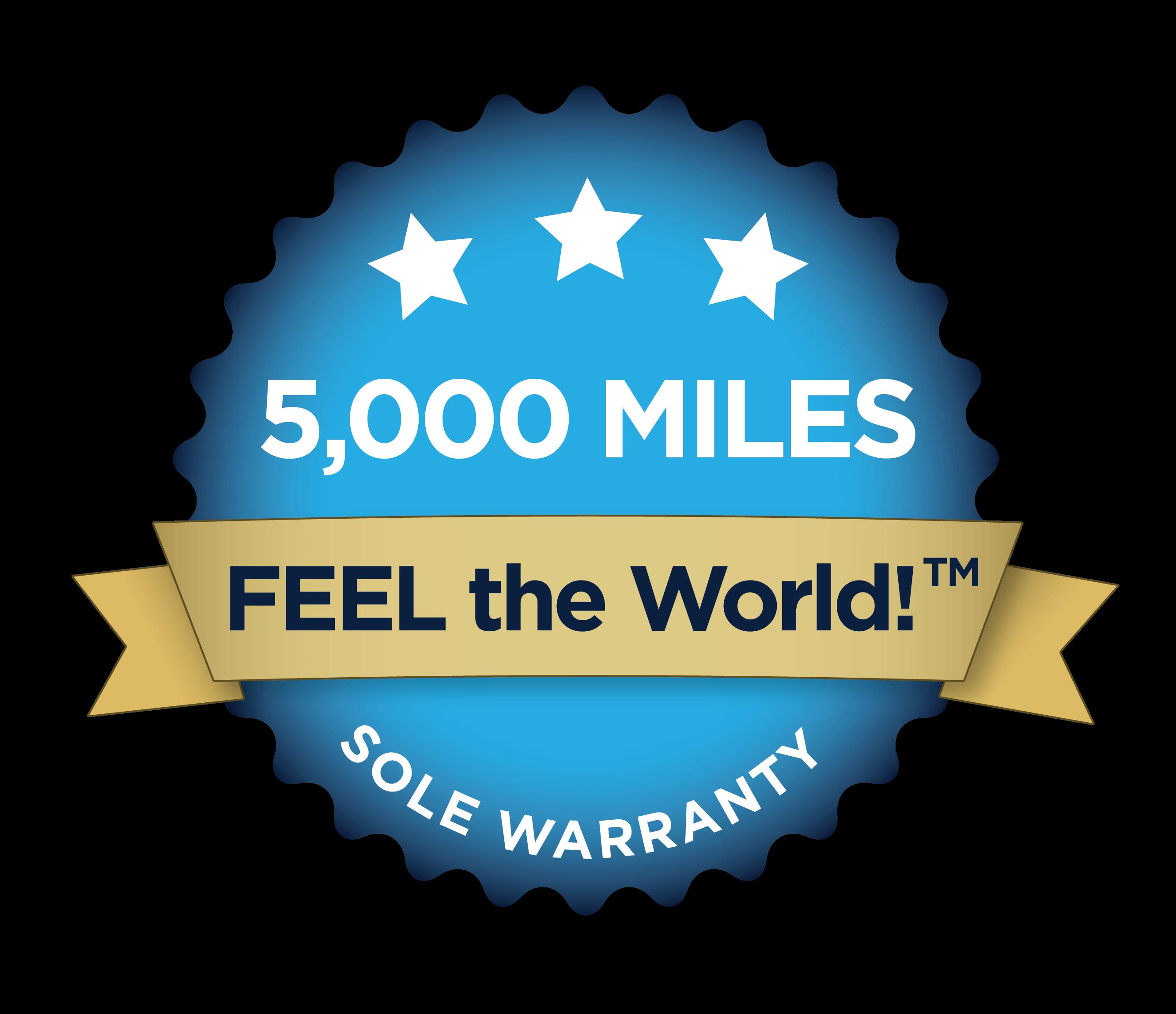 5000 Mile Sole Warranty